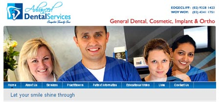 Dentist Dental website design